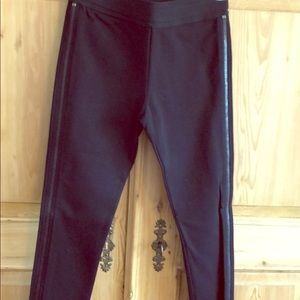 Cropped Skinny Pant Legging With Zipper Detail